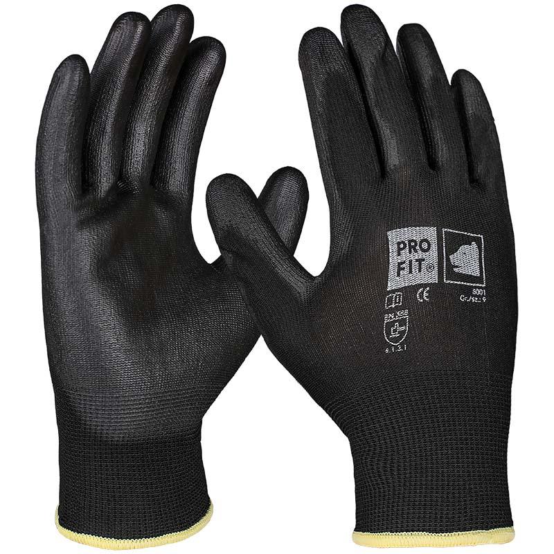 PU-Handschuh schwarz 10er Pack